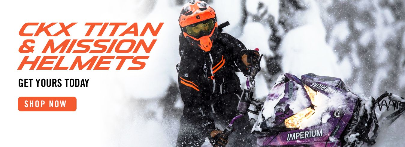Shop the popular CKX Titan and Mission helmets for all your offroad winter fun