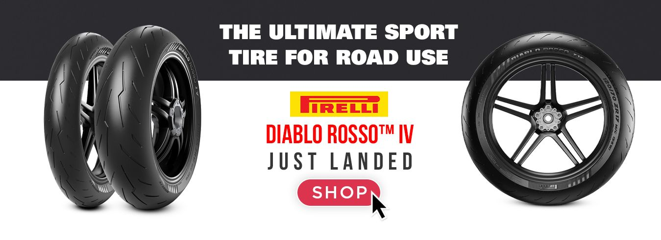 The Ultimate Sport Tire for Road use now at GP BIKES! Pirelli Diablo Rosso 4