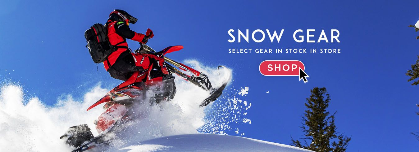 Shop @ GP BIKES during the Winter time for Snow Gear!