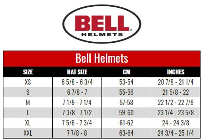 BELL size chart