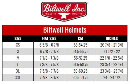 Biltwell Helmets size chart