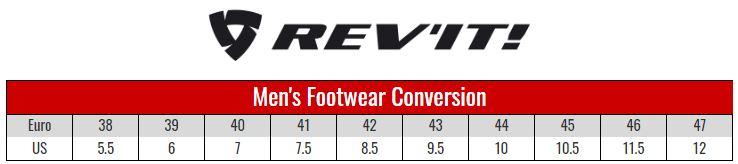 Rev'it Mens Boots size chart