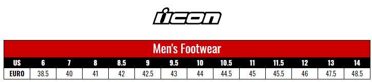 Icon Shoes Men size chart