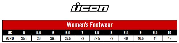 Icon Shoes Women size chart