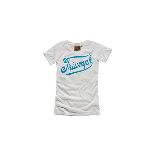 TRIUMPH New Script Logo White T-Shirt
