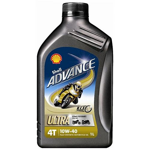 Shell Advance Ultra 4T 10w-40 Performance Synthetic Bike Engine Oil - 1 Litre