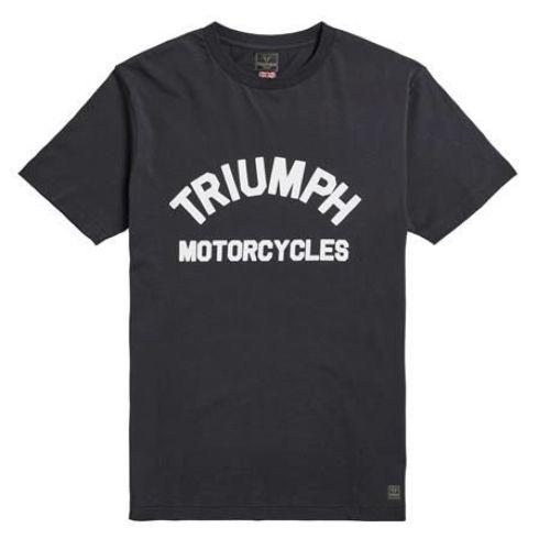 TRIUMPH BURNHAM JET BLACK TEE
