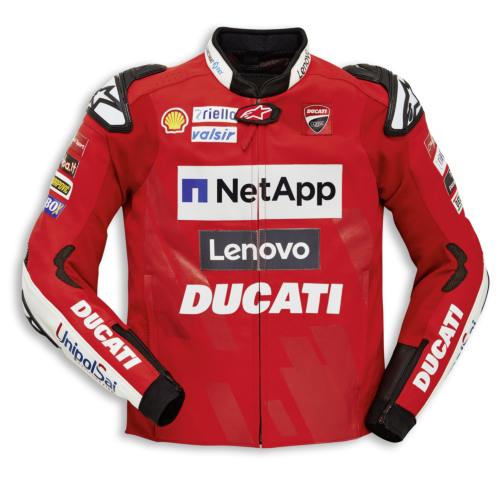 Ducati Replica Team '19 Perforated Leather Jacket