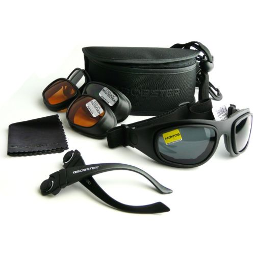 Bobster Sport And Street 2 Interchangeable Goggles/Sunglasses