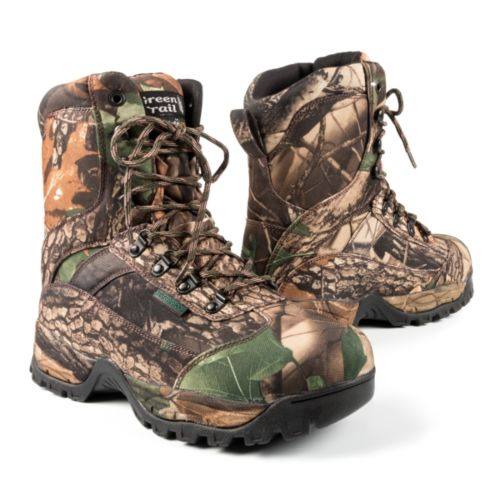 Green Trail Camo Hunting Boots Men, Women - Hunting