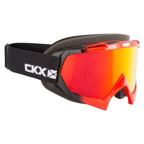 CKX Assault Goggles, Winter Black, Red