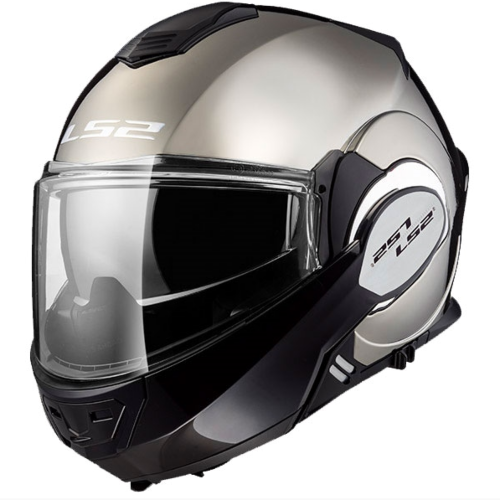 LS2 Valiant Modular Helmet - Chrome Black