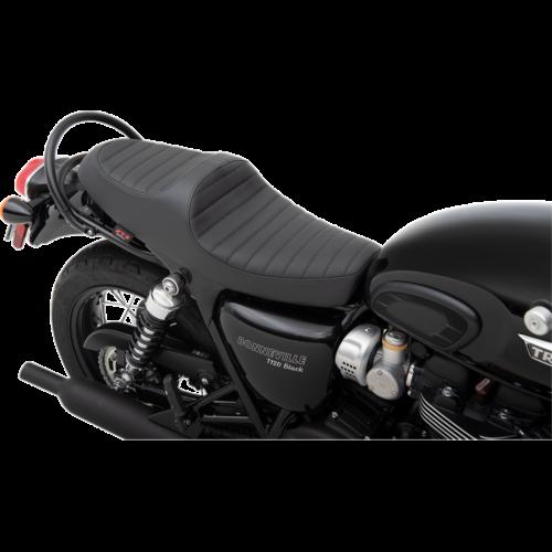 Z1R Predator III Seat: Classic stitch - Black (Triumph Bonneville T100/T120, Street Scrambler 900/ Street Twin 900 16-19)