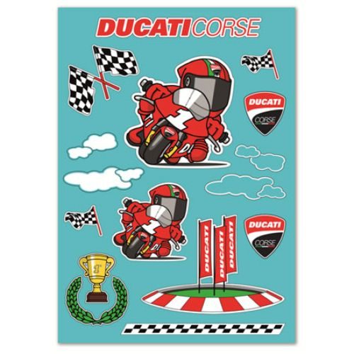 Ducati Cartoon Sticker Sheet