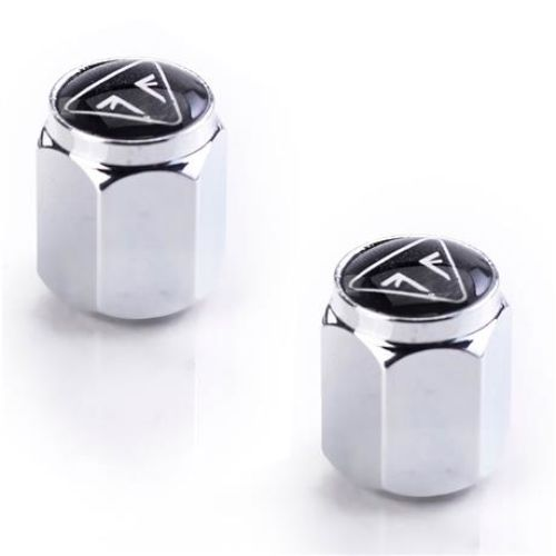 TRIUMPH RESIN LOGO CHROME VALVE CAPS