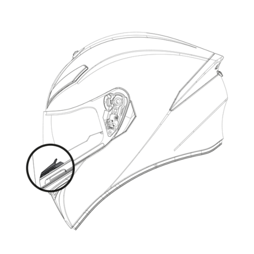AGV K5 S/K3 SV/K1 Helmet Breath Deflector