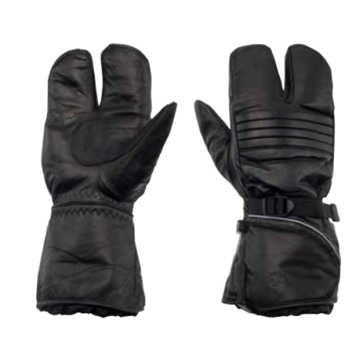 "Zero Factor ""Hi Grip"" 3-Finger Leather Mitts"