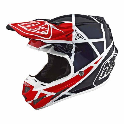Troy Lee Designs SE4 Composite Helmet W/MIPS Metric Red/ Blue