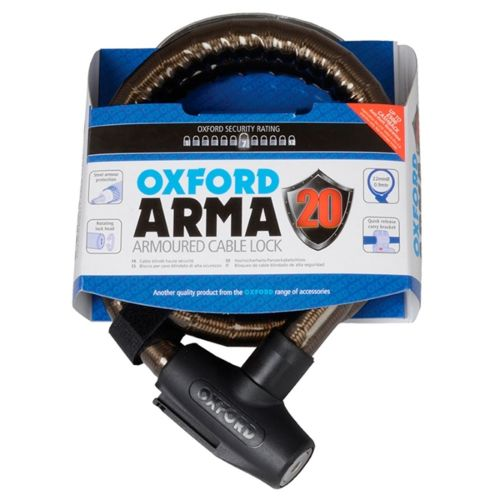 Oxford Products Arma 2.0 Scooter Version Armoured Cable Lock