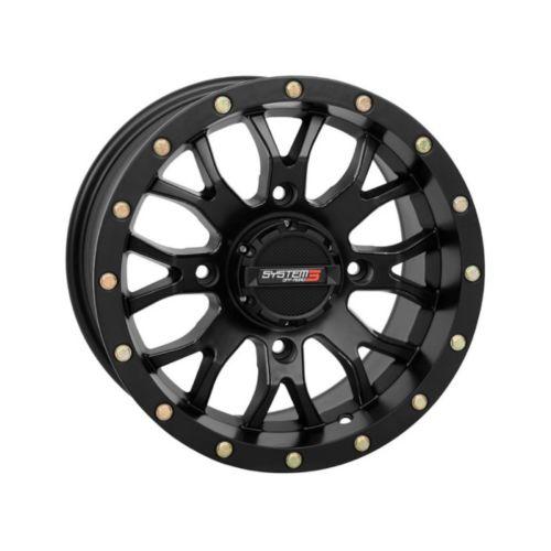 SYSTEM 3 OFF-ROAD ST-3 Simulated Beadlock UTV Wheel 14x7 - 4/156 - 5+3