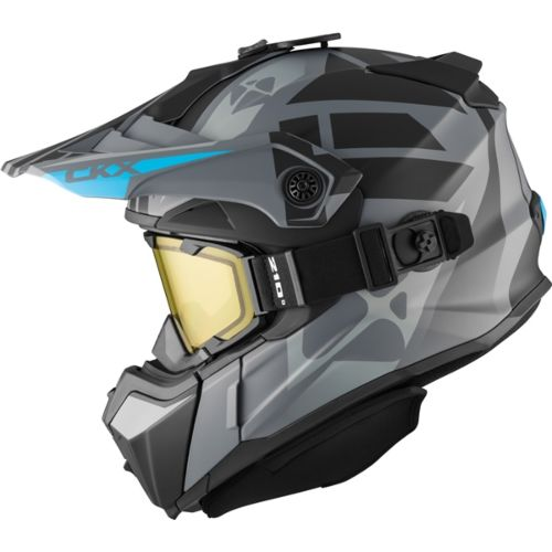CKX Titan Original Backcountry Helmet, Winter Abyss - Included 210° Goggles