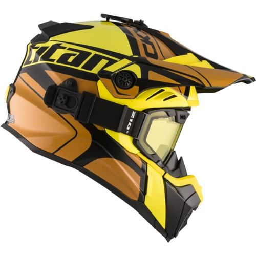 CKX Titan Air Flow Backcountry Helmet, winter Hopover - Included 210° Goggles