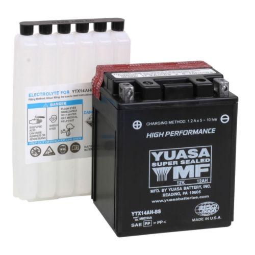 Yuasa Battery Maintenance Free AGM Factory Activated YTX14AH-F/A