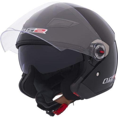 LS2 Track Open-Face Helmet Solid