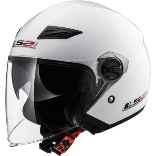 LS2 Track Open Face Helmet Pearl
