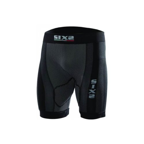 SIX2 Half-Leg Shorts with Butt-Patch Carbon Underwear